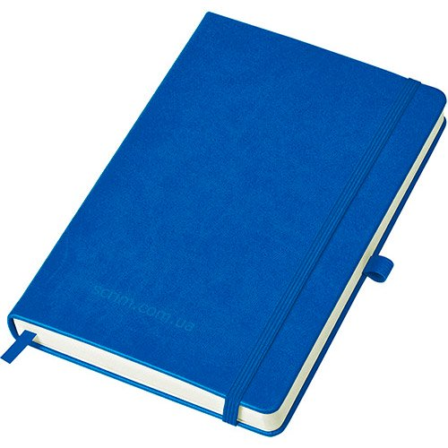 Блокноты синие Justy с логотипом