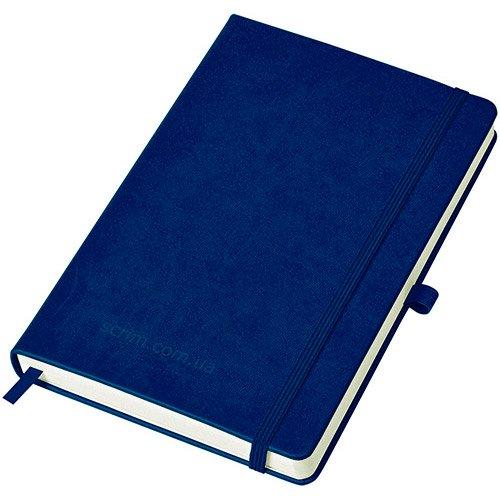 Блокноти темно-сині Justy з логотипом
