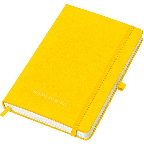 Блокноти жовті Justy з логотипом