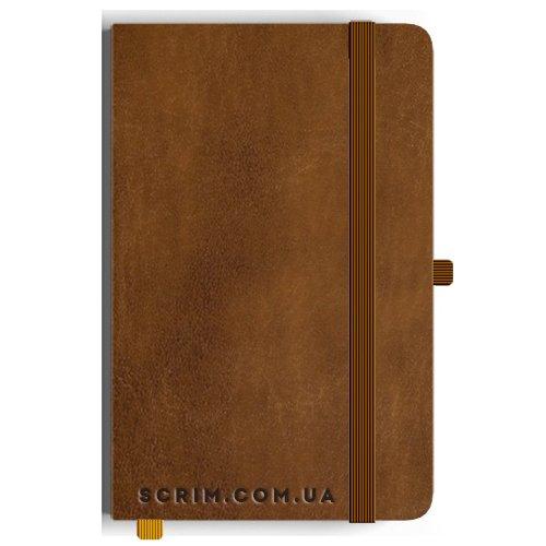 Блокноти Leona А5 коричневі під замовлення