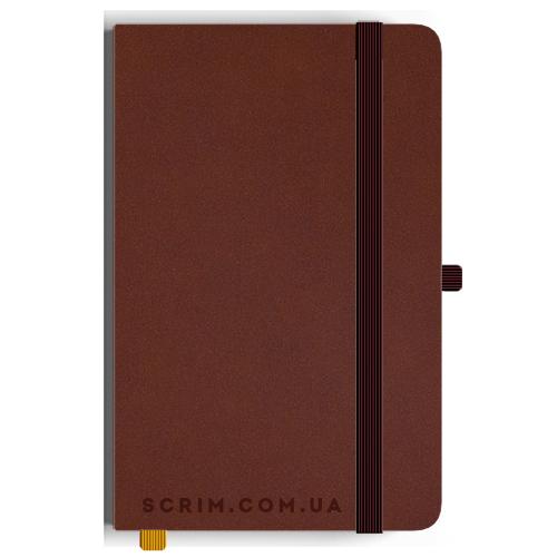 Блокноти A5 Velor коричневі під замовлення