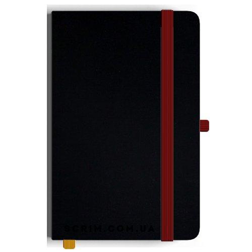 Блокноты A5 Soft-gum крас-черные под заказ