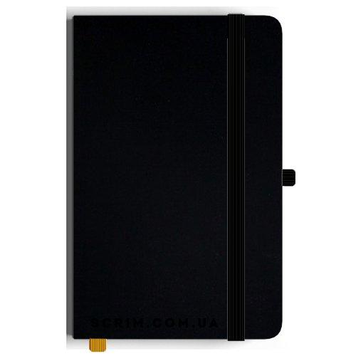 Блокноти A5 Soft-gum чорні під замовлення