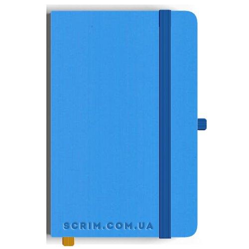 Блокноти A5 Soft-gum блакитні під замовлення