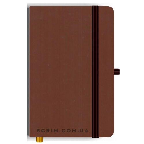 Блокноты A5 Soft-gum коричневые под заказ
