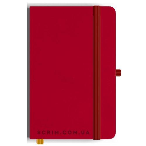 Блокноти A5 Soft-gum бор-червоні під замовлення