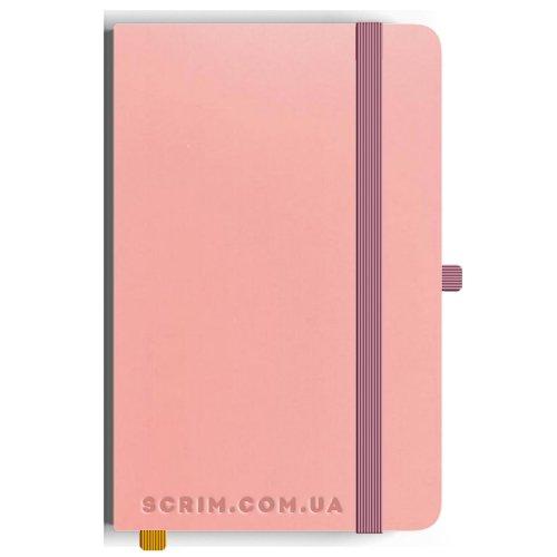 Блокноти A5 Soft-gum рожеві під замовлення