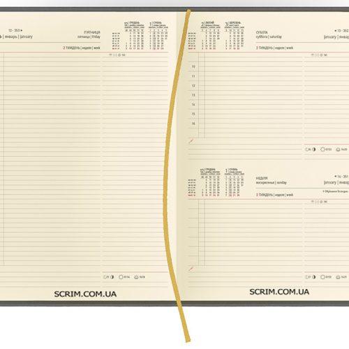 Щоденники А4 датовані Vester кремовий блок