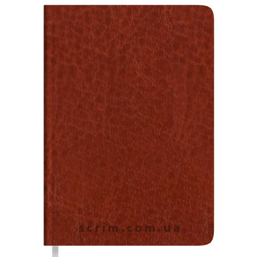 Щоденники B6 недатовані Natty коричневі з логотипом