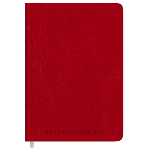 Ежедневники B6 недатированные Natty красные