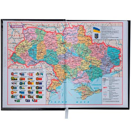 Ежедневники BM недатированный белый блок карта Украины