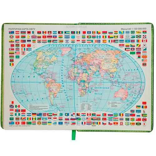 Щоденники BM кремовий блок мапа світу