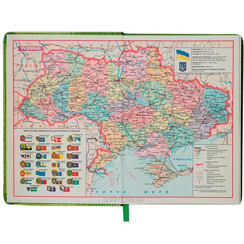 Щоденники BM кремовий блок мапа України