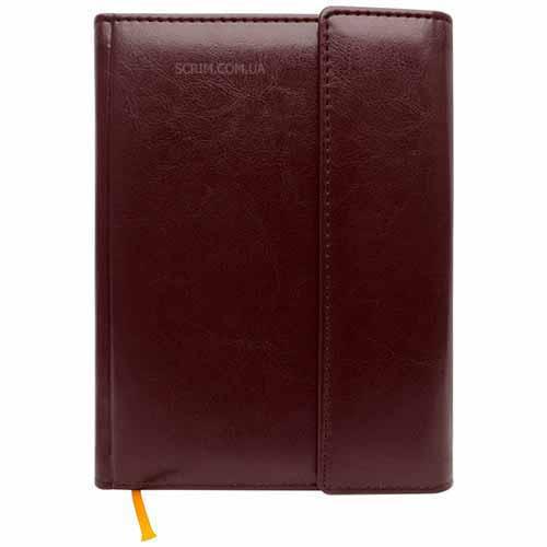 Ежедневники Estella коричневые с магнитным клапаном