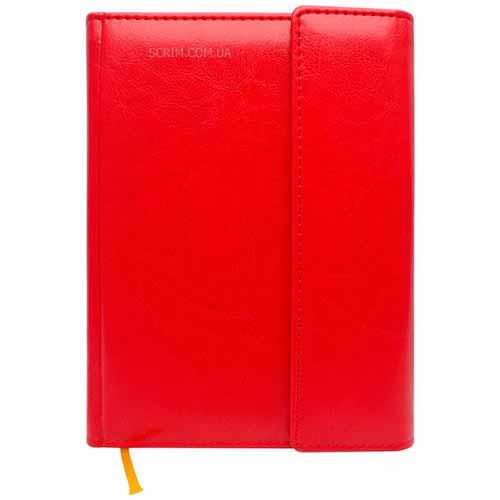 Ежедневники Estella красные с магнитным клапаном