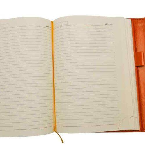 Ежедневники Estella оранжевые с магнитным клапаном 2