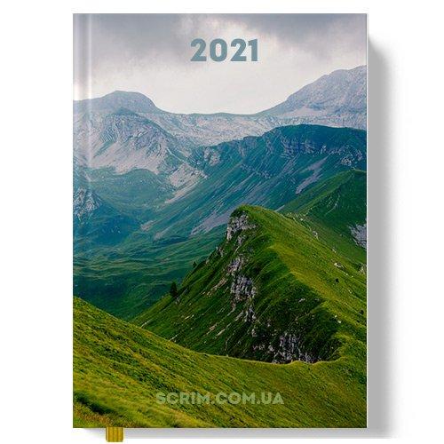 Ежедневники фирменные с полноцветной обложкой Peak 2021