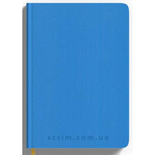 Щоденники Soft-Touch блакитні з логотипом