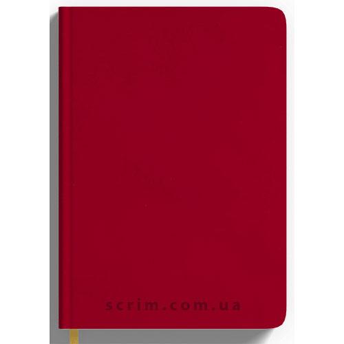 Щоденники Soft-Touch червоні з логотипом
