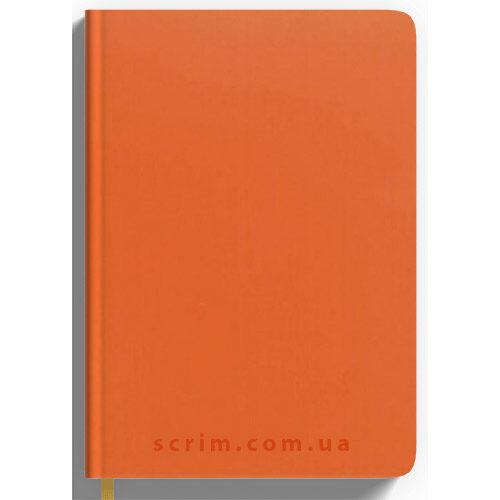 Ежедневники Soft-Touch оранжевые с логотипом