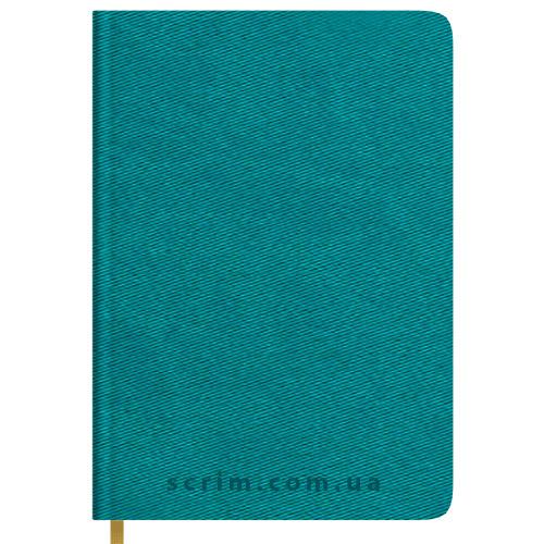 Ежедневники Twill бирюзовые с логотипом