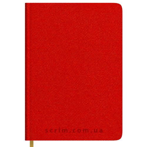 Ежедневники Twill красные с логотипом
