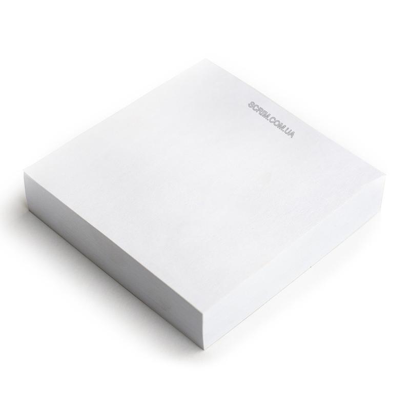 Кубарики з логотипом білий блок