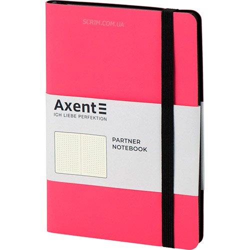 Записники Soft рожеві А5- з чорної гумкою
