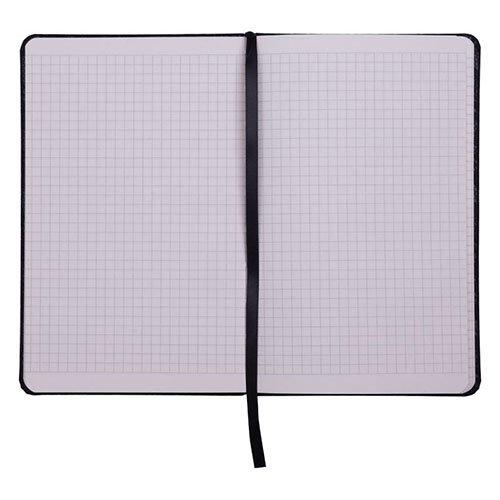 Записные книжки Софт А5-, цвет серебристый в клетку