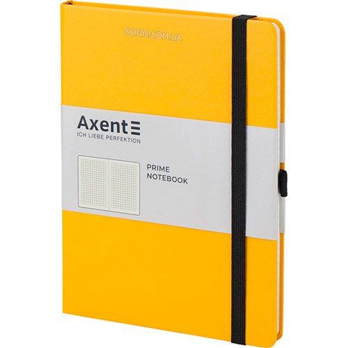Записные книжки Prime желтые А5 черная резинка