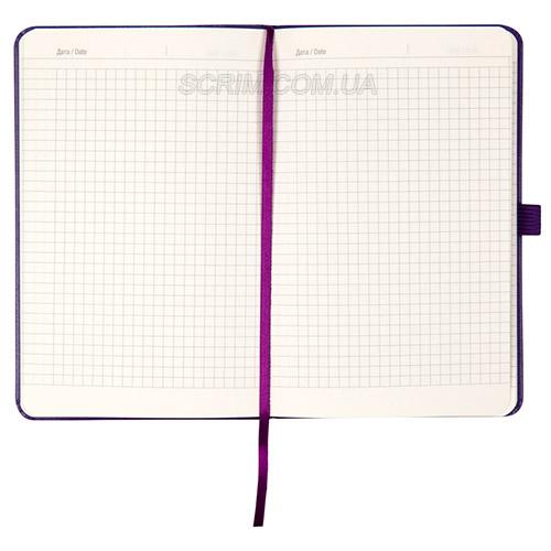Записники Стандарт А5- фіолетові в клітинку