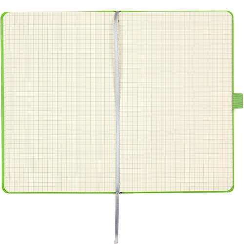 Записные книжки Стандарт А5-, цвет ярко-зеленый, в клетку
