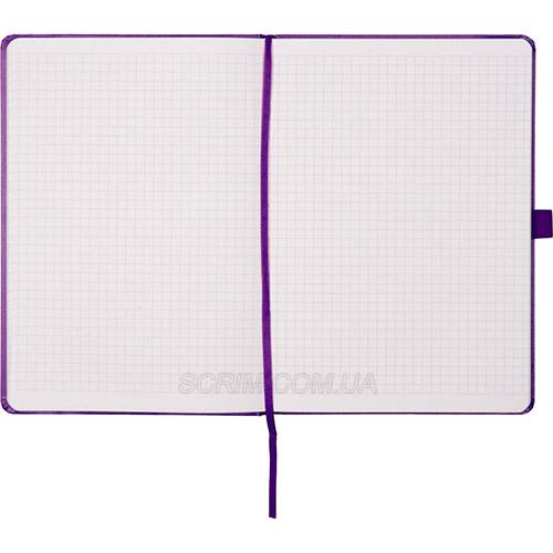 Записники Prime фіолетові в клітинку