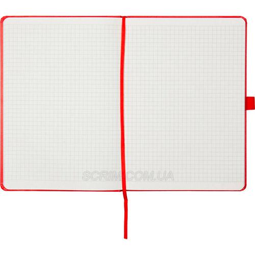 Записные книжки Partner Прима А5, цвет красный, в клетку
