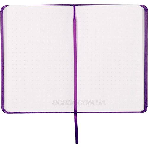 Записные книжки Партнер А6-, цвет фиолетовый в точку