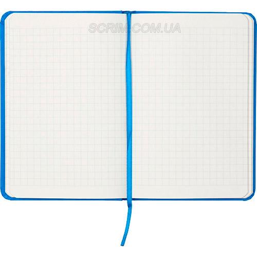Записные книжки Партнер А6-, цвет голубой, в клетку