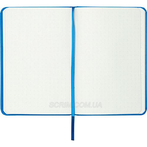 Записные книжки Партнер А6-, цвет голубой, в точку