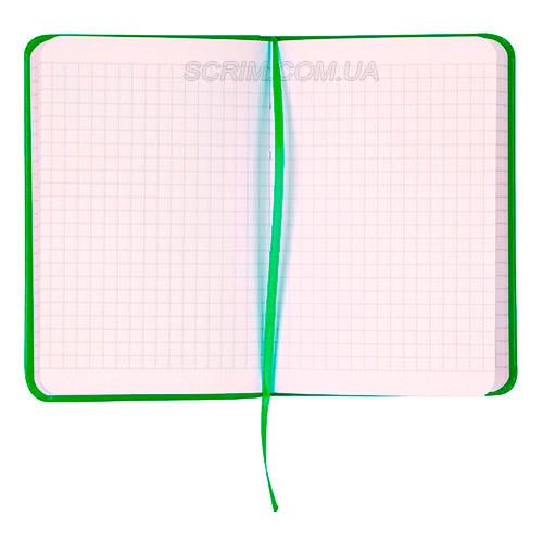 Записные книжки Партнер А6-, цвет ярко-зеленый, в клетку