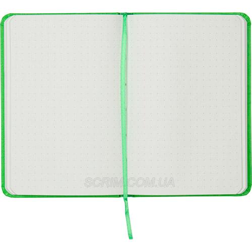 Записные книжки Партнер А6-, цвет ярко-зеленый в точку