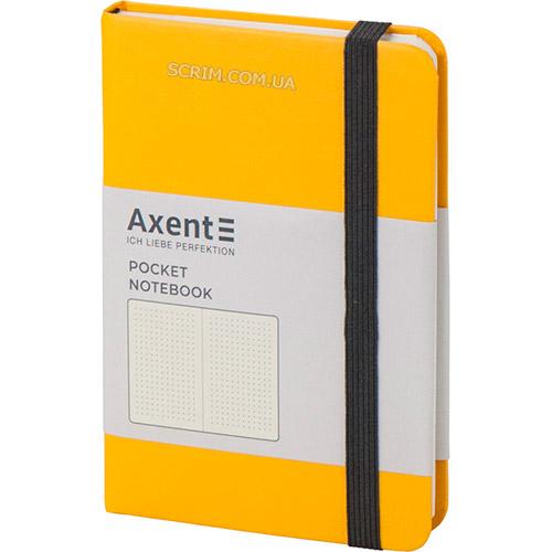 Записные книжки А6- желтые с резинкой